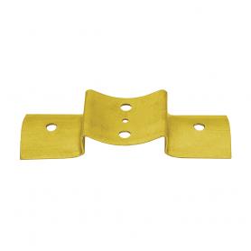 Zaun-Riegelbeschlag zum Rundhölzern - Zink galvanisiert gelb 203x68