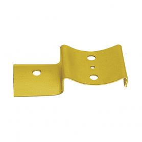 Zaun-Riegelbeschlag zum Rundhölzern - Zink galvanisiert gelb 145x68