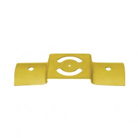 Zaun-Riegelbeschlag zum Rundhölzern - Zink galvanisiert gelb 200x58x2,5