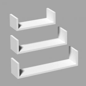 Wand-Regal-Set, Modulfächer, Regalsysteme, Hängeregale - FUS 420/340/260