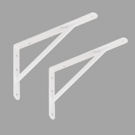 2x Stegkonsole, Konsole, Regalhalter, Regalkonsole - WSWP WEISS