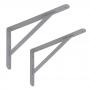 2x Stegkonsole, Regalhalter, Regalkonsole, Regalsyste - WSWP Grau