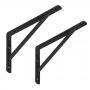 2x Stegkonsole, Regalhalter, Regalkonsole, Regalsystem - WSWP SCHWARZ