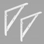 2x Klappkonsole, Regalhalter, Regalkonsole, Regalsystem - WSZL WEISS