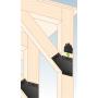 Dekorativ Verbinder Flachverbinder Holzverbinder Lochwinkel Winkel mit CE - SDLPF