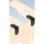 Dekorativ Verbinder Schwerlast-Winkelverbinder mit Sicke mit CE - SDSKP
