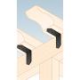 Dekorativ Verbinder Lochplattenwinkel Holzverbinder Lochwinkel Winkel mit CE - SDSKM