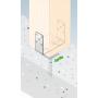 Stützenfuß Pfostenträger – breitenverstellbar – PSRU 60-200x136x4,0