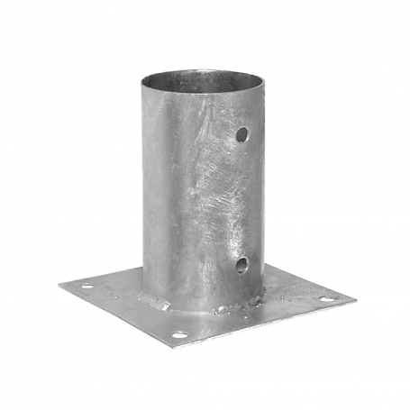 Aufschraubhülse Bodenhülse Pfostenträger – PSPO rund Feuerverzinkt