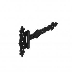 Dekorativ Kreuzgehänge Scharniere Schwarz Ladenband T-Bänder - ZBD