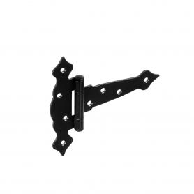Dekorativ Kreuzgehänge Scharniere Ladenband Bänder - Schwarz ZTO