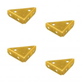 Eckbeschlag Möbelbeschlag Metallecke Eckenschutz - Zink galvanisiert gelb - NS
