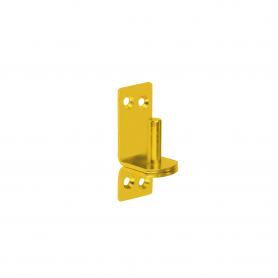 Kloben Klobenhalter Torkloben Plattenhaken Zink galvanisiert gelb - C