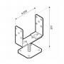 Stützenfuß Pfostenträger – breitenverstellbar – PSRT 60-200x136x4,0