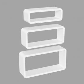 Wand-Regal-Set, Modulfächer, Regalsysteme, Hängeregale - FOS Weiss 400/350/300