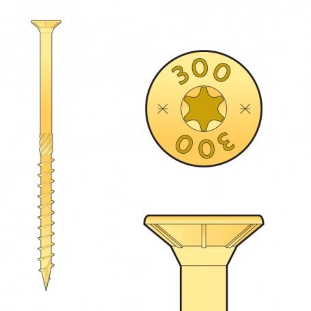 CS - Holzbauschraube mit Senkkopf 4mm (Päckchen)