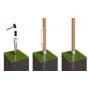 Einschlagbodenhülse Bodenhülse Einschlaghülse Pfostenträger - PSG Feuerverzinkt