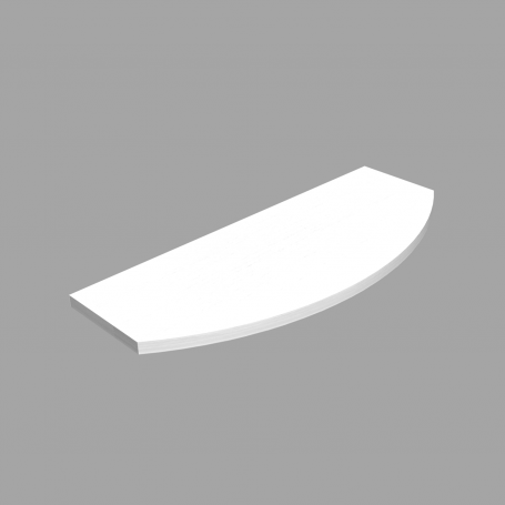 LUX Laminierte Regalboden weiß 595x195x145x18