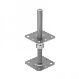 Stützenfuß Pfostenträger, höhenverstelbar zum Aufschrauben - PSR M20