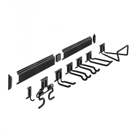9-tlg. Satz Gerätehalter Set, Hakenset, Garagen haken, Werkzeughalter - Goliat SGK