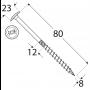Holzbauschrauben mit Tellerkopf CT - 8mm TORX - Zink galvanisiert