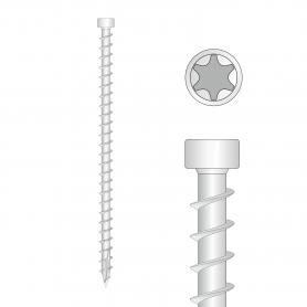 Konstruktionsschrauben Holzbauschrauben Zylinderkopf TORX Vollgewinde 6mm - CPW - 100 Stck