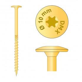 Holzbauschrauben mit Tellerkopf CT - 10mm TORX - Zink galvanisiert