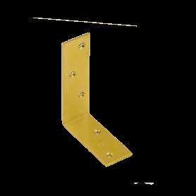 Balkenwinkel Holzverbinder Zink galvanisiert gelb - KB Großpack