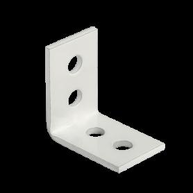Holzverbinder Stuhlwinkel 25x25x17x1,5 mm weiss - KWB Großpack