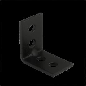 Holzverbinder Stuhlwinkel 25x25x17x1,5 mm schwarz - KWC Großpack