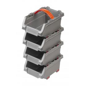 Lagerboxen Stapelboxen Sichtlagerboxen 150x110x90 4 tlg. set - PGP 3