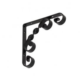 Regalhalter, Regalkonsole Dekorative - Ornament Stahl - WO