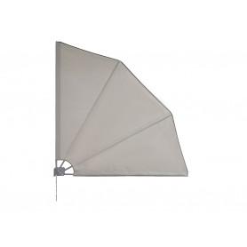 Terasse Markise Windschutz Seitenwand 140x140 - Bora, grau