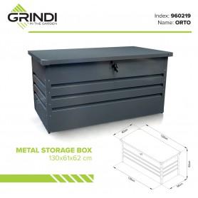 Metall-Gartenbox Kissenbox Auflagenbox 400l - 130x61x62 - Orto
