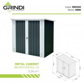 Metall-Gartenschrank 86x147x134 - Semi
