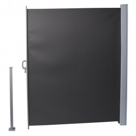 Terasse Markise Windschutz Seitenwand 160x300 - Mistral, Dunkelgrau