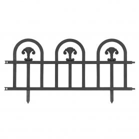 Rasenkante Gartenpalisade schwarz 240x30 Satz mit 4 Stück - GOP 1